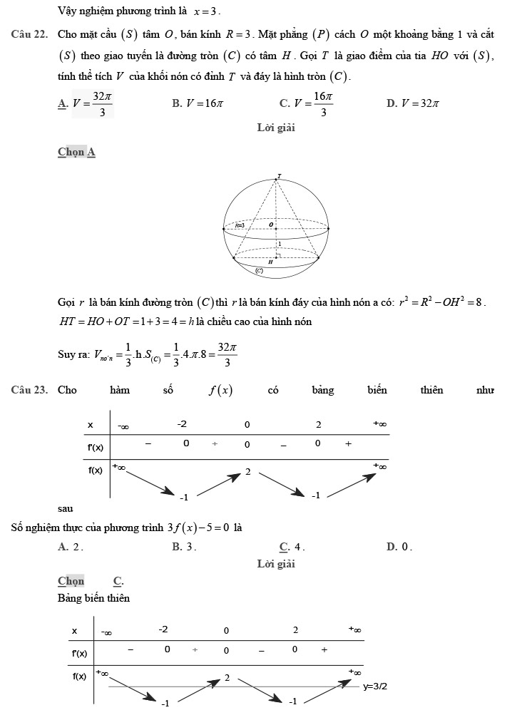 giải đề thi thử THPT Quốc gia 2020 môn Toán theo đề minh họa trang 6