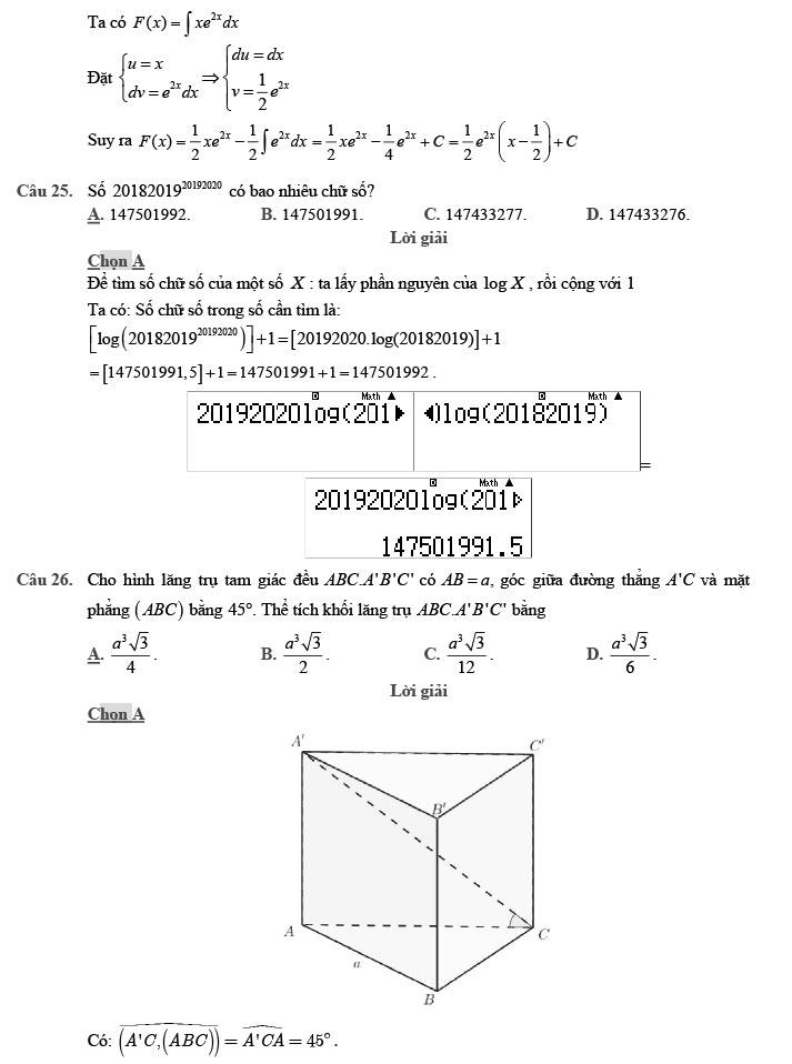 giải đề thi thử môn Toán 2020 phát triển theo đề minh họa số 7 trang 6