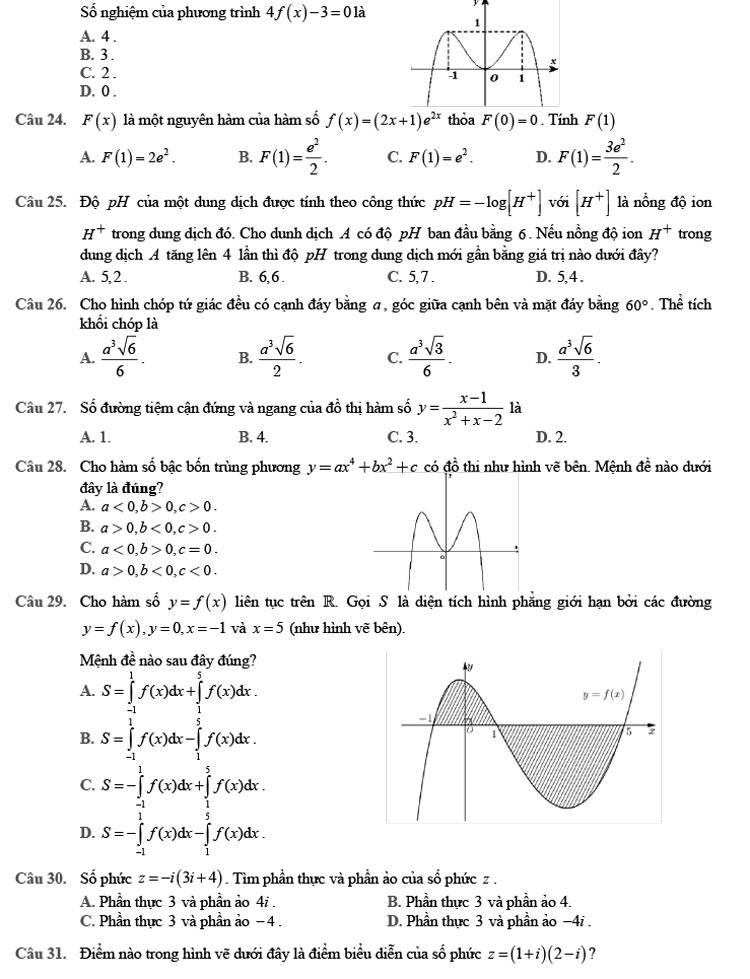 Đề thi thử môn Toán 2020 phát triển theo đề minh họa số 8 trang 2