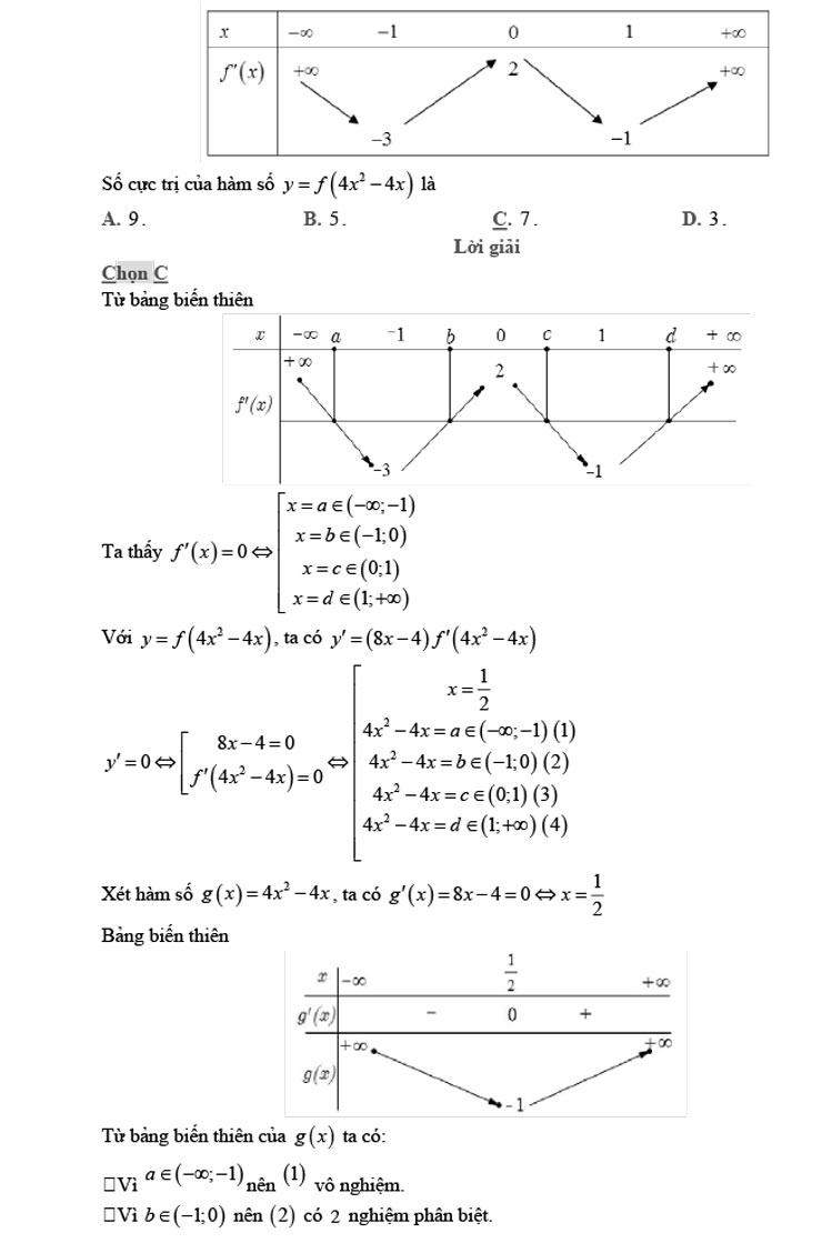 giải đề thi thử môn Toán 2020 phát triển theo đề minh họa số 8 trang 17