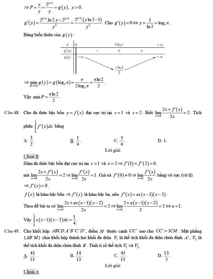 giải đề thi thử môn Toán 2020 phát triển theo đề minh họa số 8 trang 19