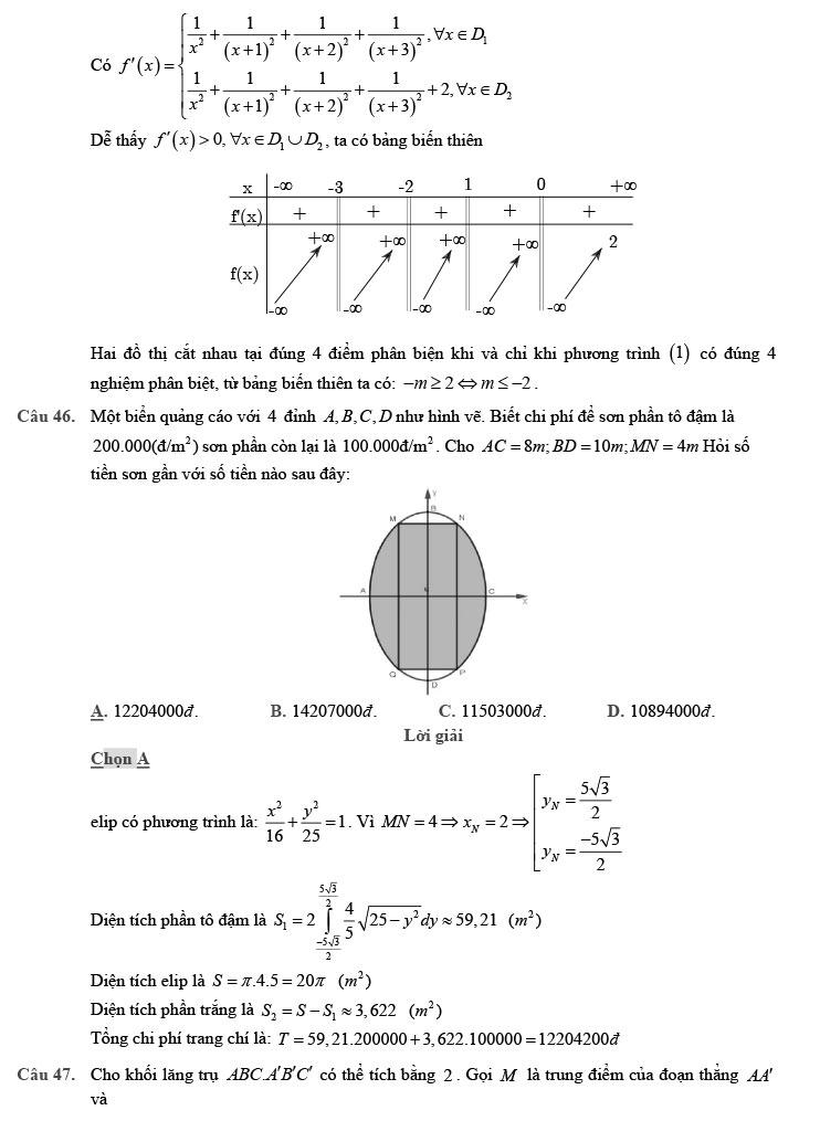 giải đề thi thử THPT Quốc gia môn Toán 2020 theo đề minh họa số 9 trang 15