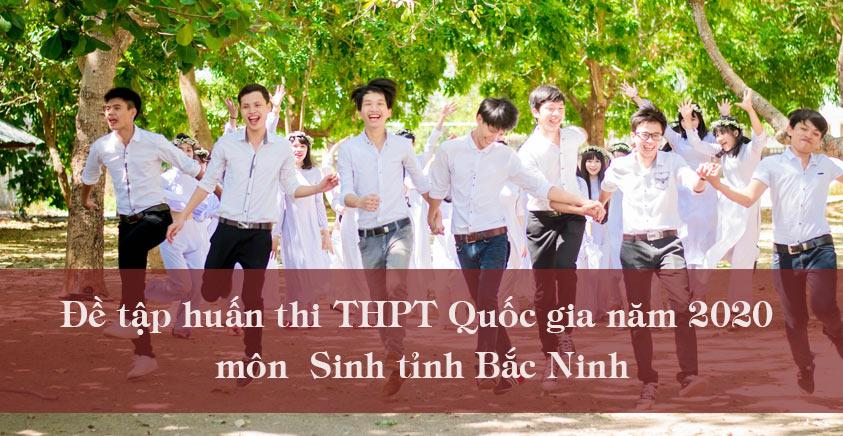 Đề tập huấn thi THPT Quốc gia năm 2020 môn Sinh tỉnh Bắc Ninh