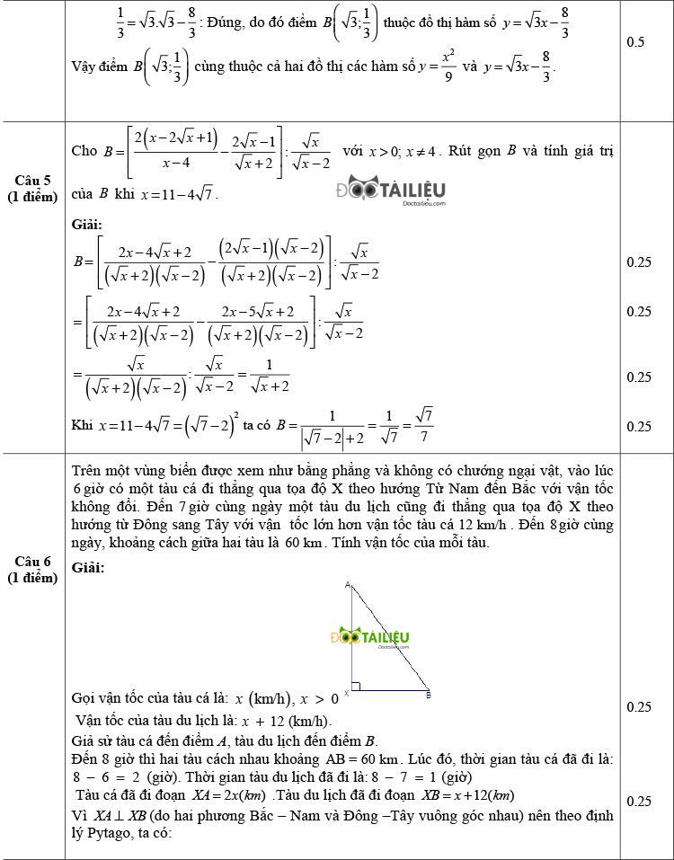 Đề thi thử Toán vào 10 có đáp án của trường THPT Gang Thép trang 2