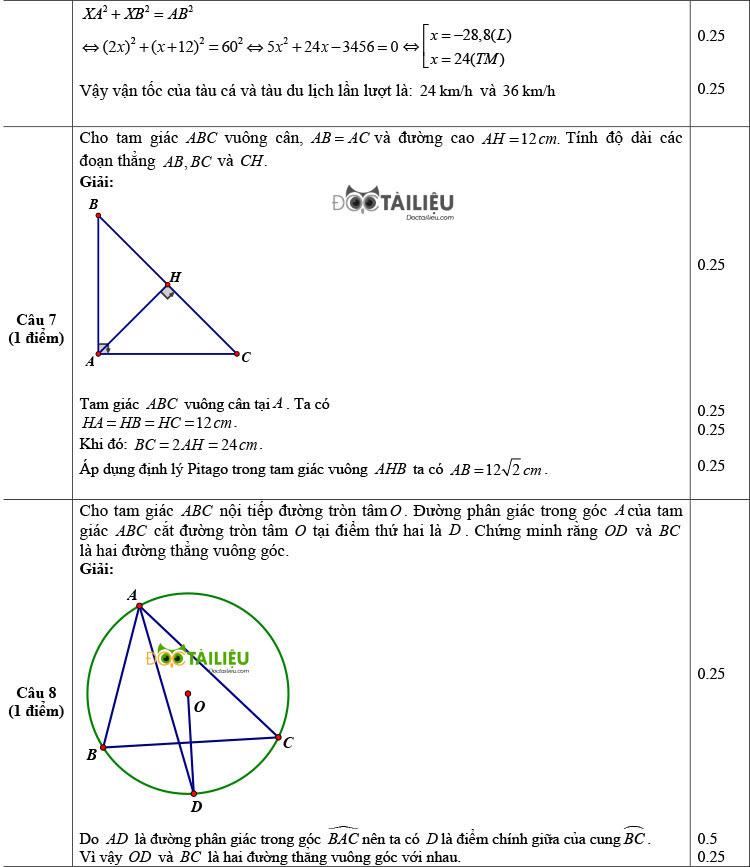 Đề thi thử Toán vào 10 có đáp án của trường THPT Gang Thép trang 3