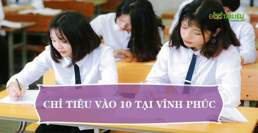Chỉ tiêu tuyển sinh vào lớp 10 năm 2020 tại Vĩnh Phúc