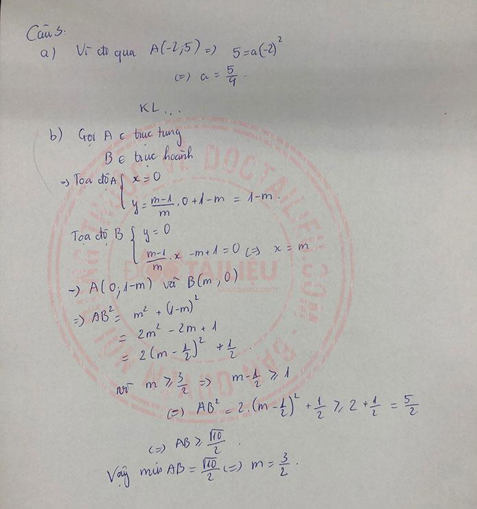 Đáp án đề thi tuyển sinh lớp 10 môn Toán Lào Cai năm 2020 câu 3