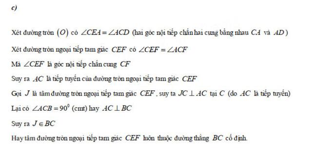 Đáp án câu 4c đề thi tuyển sinh vào lớp 10 môn Toán năm 2020 Ninh Thuận