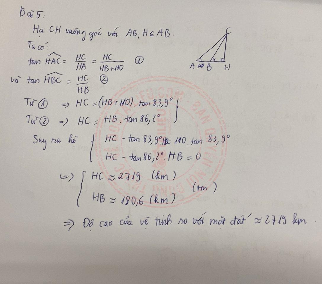 Đáp án đề thi tuyển sinh vào lớp 10 môn Toán Kiên Giang 2020 câu 5