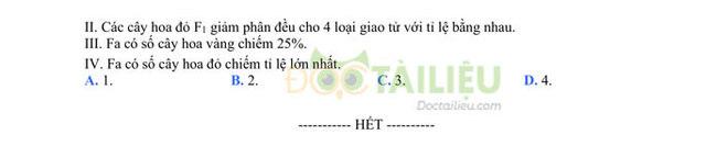Đề thi thử tốt nghiệp THPT 2020 môn Sinh có đáp án của trường THPT Quang Hà lần 3 trang 5