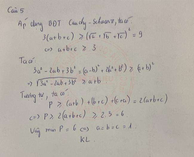Đáp án đề thi tuyển sinh lớp 10 môn Toán Lạng Sơn 2020 câu 5