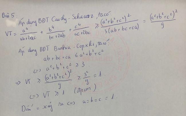Đáp án đề thi vào lớp 10 môn Toán Nam Định 2020 câu 5 ý 2