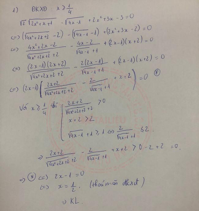 Đáp án đề thi vào lớp 10 môn Toán Nam Định 2020 câu 5 ý 1