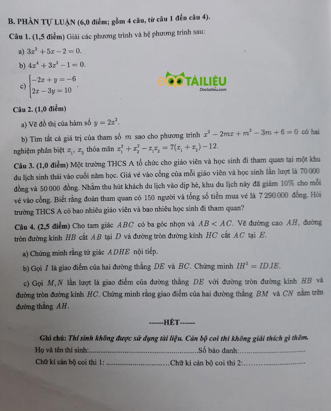 đề thi vào lớp 10 môn Toán Cần Thơ năm 2020 trang 4