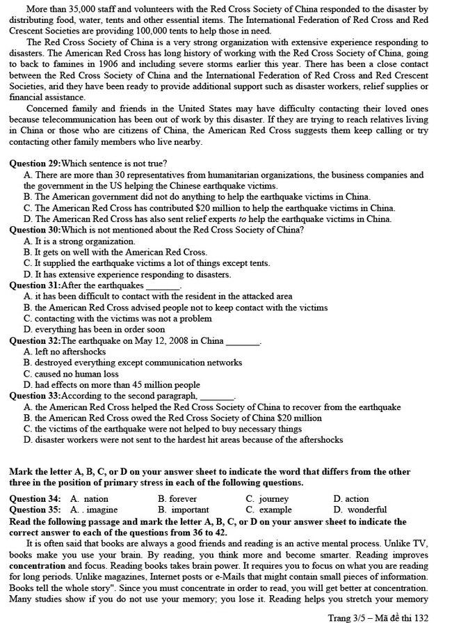 Đề thi thử tốt nghiệp môn Anh 2020 trường THPT Lý Thường Kiệt hình 3