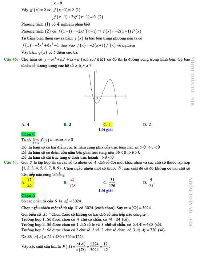 Giải chi tiết mã đề 102 môn Toán tốt nghiệp THPT 2020 trang 11