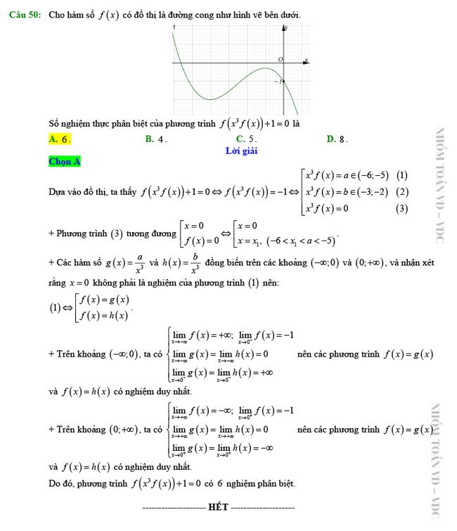 Giải chi tiết mã đề 102 môn Toán tốt nghiệp THPT 2020 trang 13