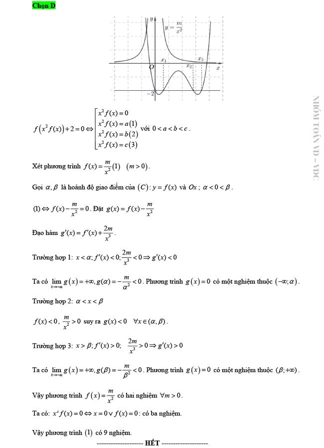 Giải chi tiết mã đề 103 môn Toán tốt nghiệp THPT 2020 trang 15