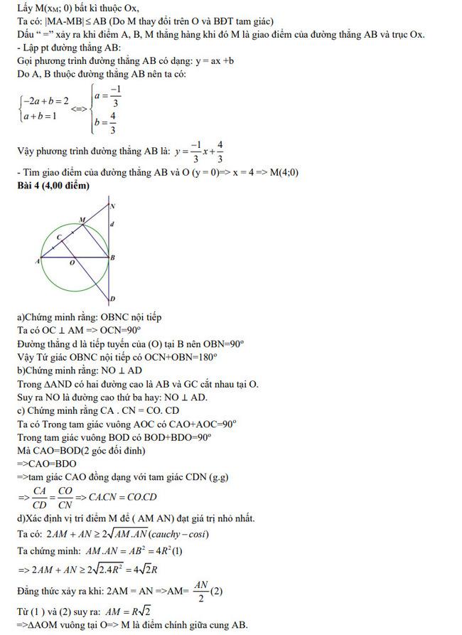 Đề thi thử lớp 10 môn Toán chuyên Khánh Hòa 2021 kèm đáp án trang 2