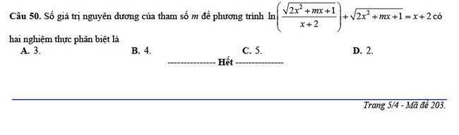 đề thi thử THPT Quốc gia 2020 môn Toán THPT Nguyễn Hiền trang 5