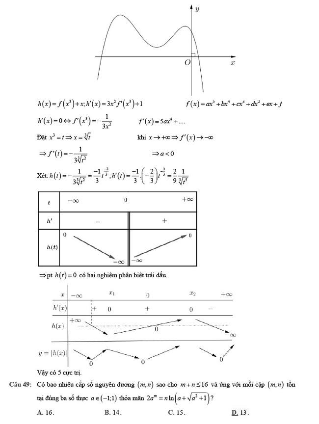 Giải chi tiết đề thi tốt nghiệp THPT môn Toán đợt 2 mã đề 102 ảnh 16