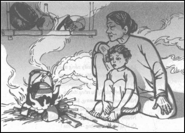 Hình ảnh người bài trong bài thơ Bếp lửa - Bằng Việt