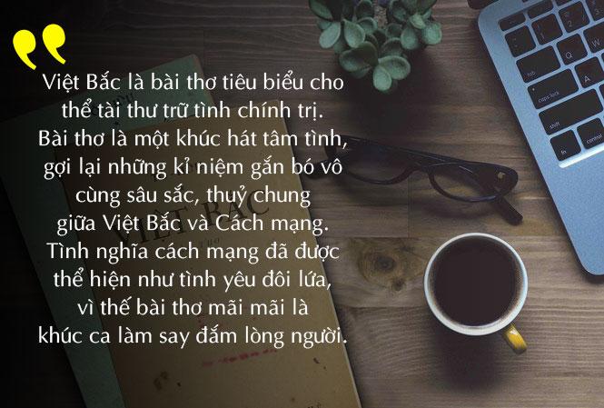 Cảm nhận về bài thơ Việt Bắc