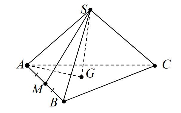 Cho hình chóp S.ABC có M là trung điểm cạnh AB và G là trọng tâm △ABC . Khẳng hình ảnh