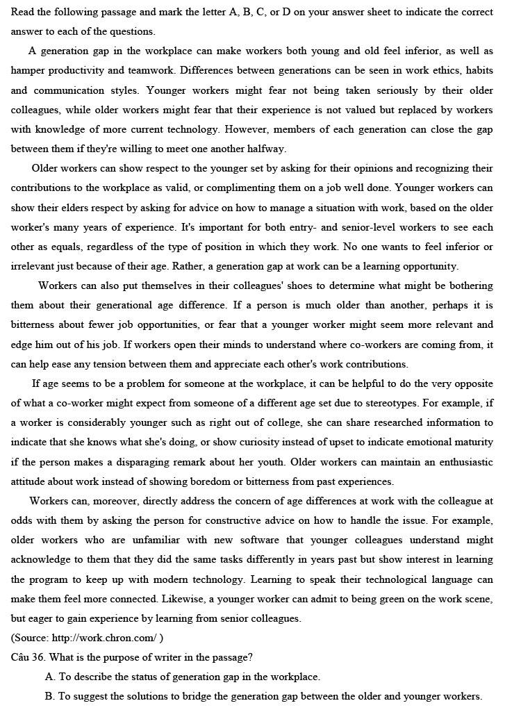 Đề thi thử tốt nghiệp THPT môn Anh 2021 trang 5