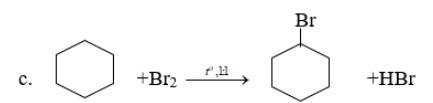Phương trình hóa học khi đun nóng xiclohexan với brom theo tỉ lệ 1:1