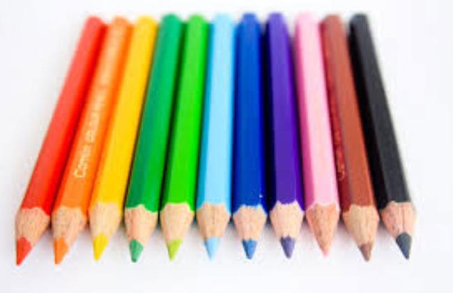 thuyết minh về chiếc bút chì: bút chì nhiều màu sắc