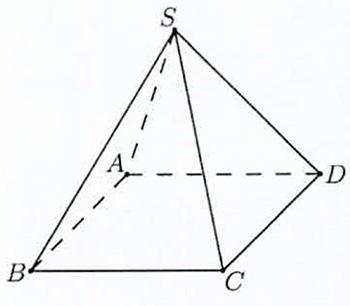 Cho hình chóp tứ giác đều S . A B C D có độ dài cạnh đáy bằng 2 và độ dài cạnh hình ảnh