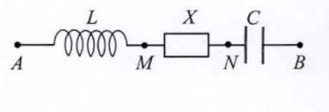 Đặt điện áp u=U0 cos omega t vào hai đầu đoạn mạch A B như hình bên. Trong đó, hình ảnh