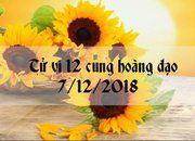 Tử vi 7/12/2018 của các cung hoàng đạo chính xác nhất