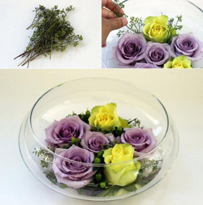 Kết quả hình ảnh cho bình hoa trong bể cá